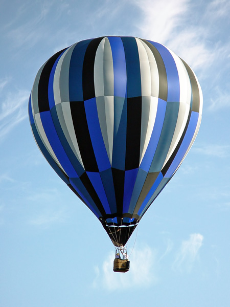 Photo Collection Hot Air Balloon Blue